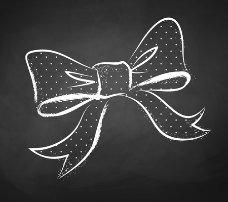 Chalkboard drawing of a bow.