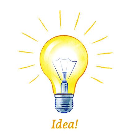 Vector illustration of light bulb.