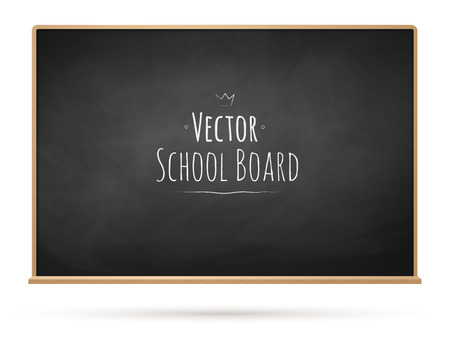 blackboard background: Vector illustration of school chalkboard.