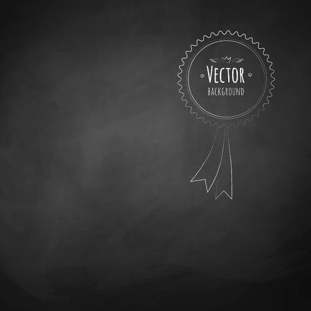 křída: Černý školní Rada vektor pozadí.