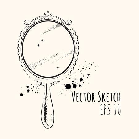 hand: Line art sketch of Mirror.