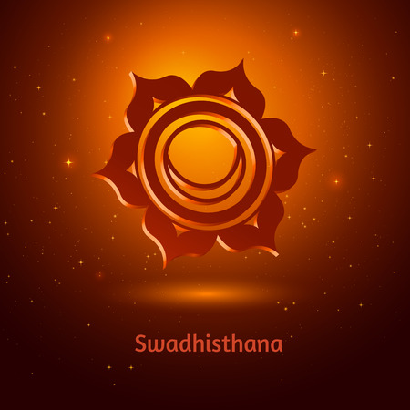 Vector illustration of Swadhisthana chakra. Vector