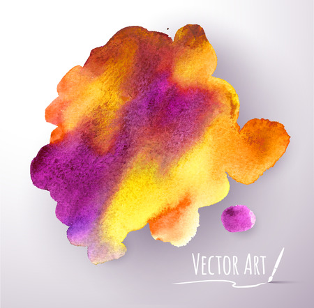 Vector watercolor hand painted stain. Vector