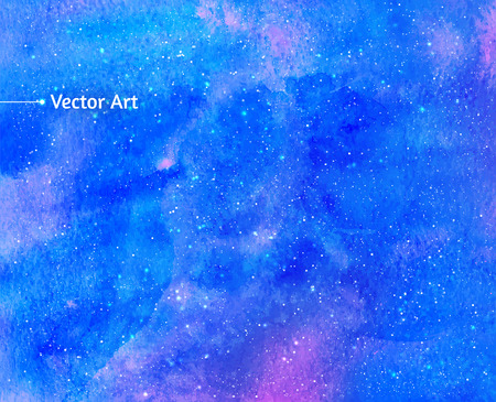 Vector abstract background with watercolor universe.
