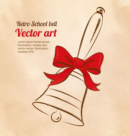 scarp: Vector illustration of school bell. Illustration