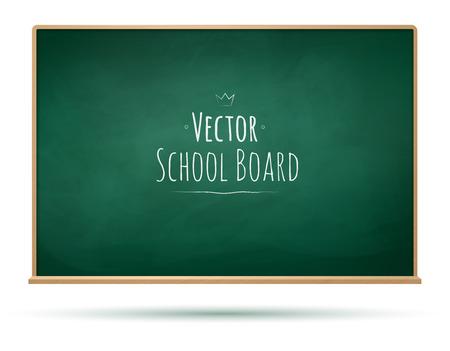 scuola: Illustrazione vettoriale di Scuola di bordo. Vettoriali