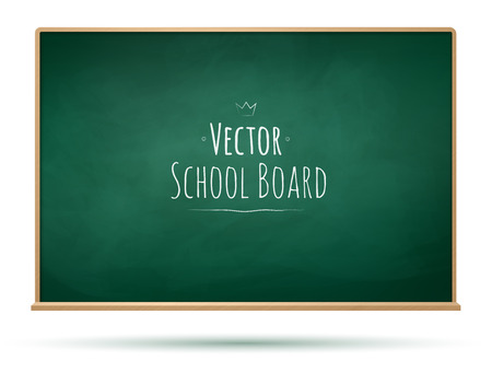 green banner: Vector illustration of School board.