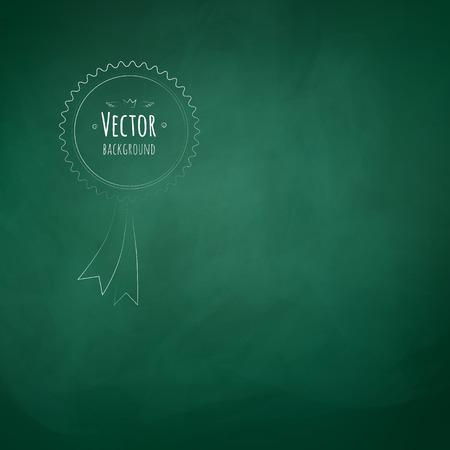 green chalkboard: Green chalkboard vector grunge background.