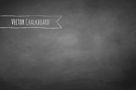 blackboard background: Grey chalkboard vector grunge background.