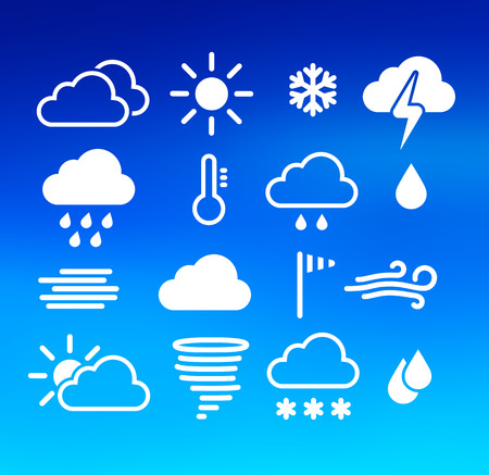Vector illustration of weather icons set. Vector