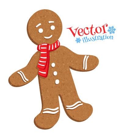 ginger cookies: Ilustración vectorial del hombre de pan de jengibre. Vectores