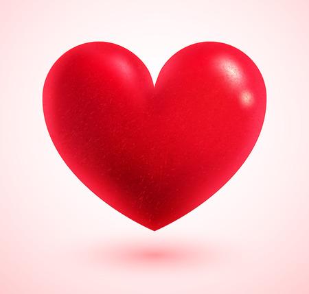 valentijn hart: Vector illustratie van Valentijn hart. Stock Illustratie