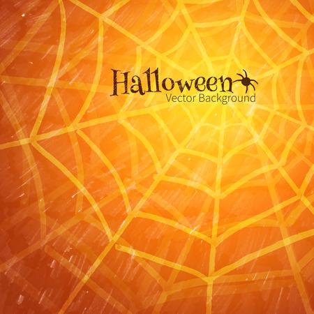 spider web: Halloween background with spider web. Illustration