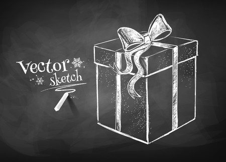 Dibujo Pizarra de caja de regalo. Foto de archivo - 38352883