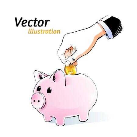 money box: Vector illustration of money box. Illustration