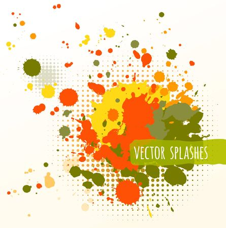 inky: Vector illustration of inky colorful splashes.