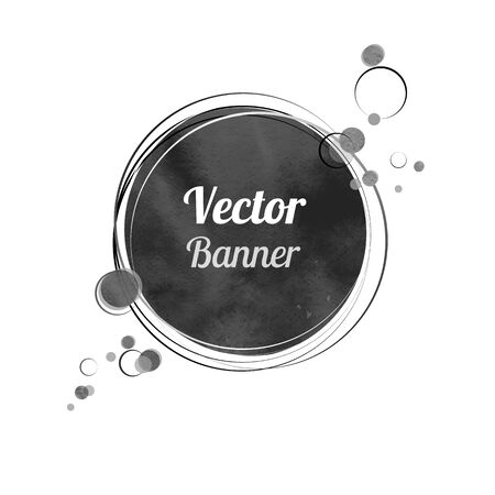 Vintage watercolor banner with circles. Vector
