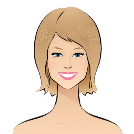 ragazza giovane bella: Illustrazione vettoriale di una bella ragazza.