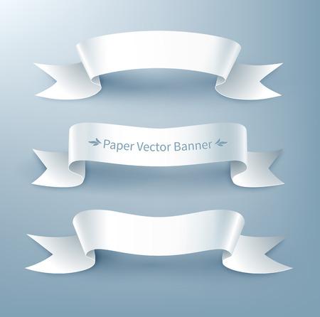 pancarta: Ilustraci�n vectorial de bandera de la cinta de papel.