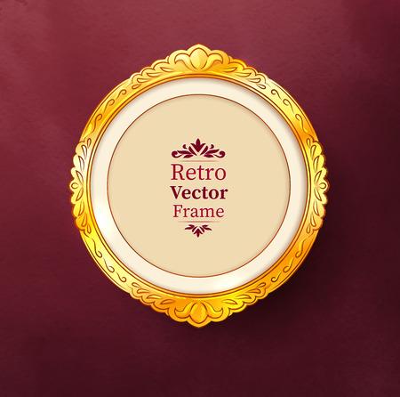 scarp: Vector illustration of vintage baroque golden frame.