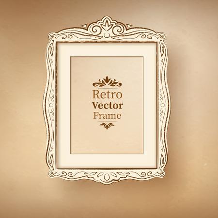 scarp: Vector illustration of vintage baroque frame.
