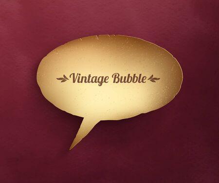 Vector illustration of vintage paper bubble talk.