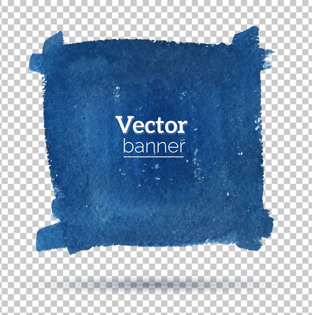 ink spot: Hand drawn watercolor vector banner.