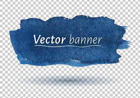 Hand painted watercolor vector banner. 向量圖像