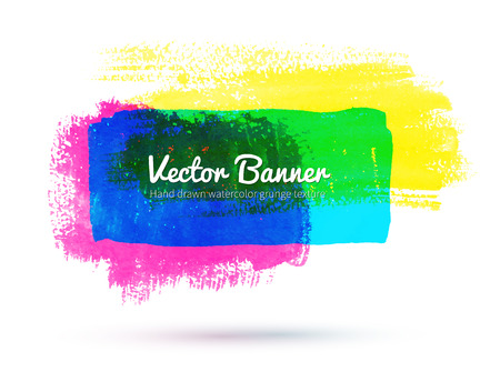 Vector illustration of artistic watercolor banner.