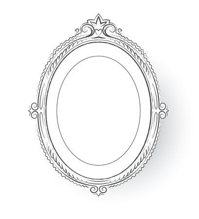 baroque picture frame: Vector illustration of vintage baroque frame.