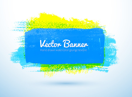 daubs: Vector illustration of colorful grunge watercolor banner.