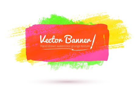 daubs: Vector illustration of colorful watercolor banner. Illustration