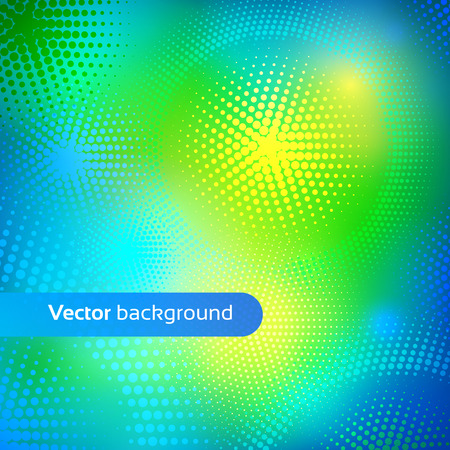green and yellow: Vector abstract background with dots. Illustration
