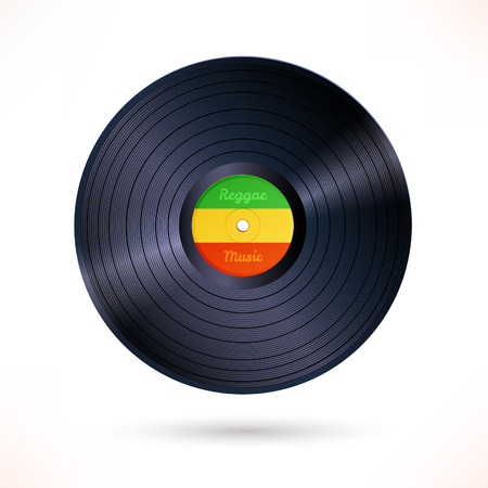 jukebox: Vector illustration of reggae vinyl record.