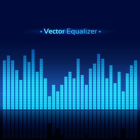 Vector abstract background with equalizer.