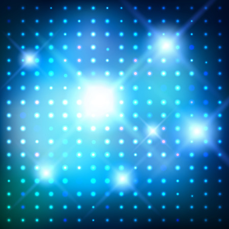 dance floor: Vector glowing background with disco lights. Illustration