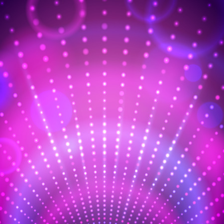 70s disco: Vector abstract background with disco lights.