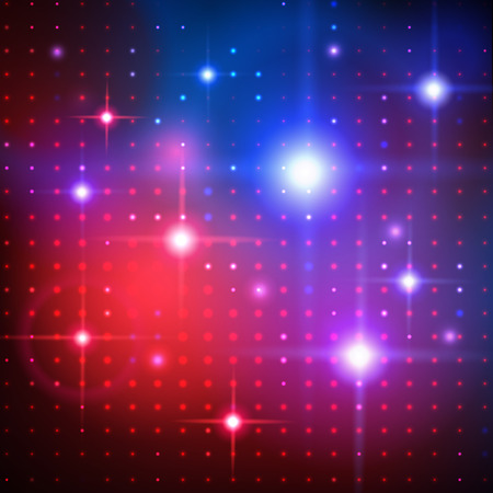Vector abstract background with disco lights.