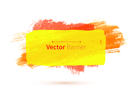 Yellow colorful vector watercolor banner. Vector