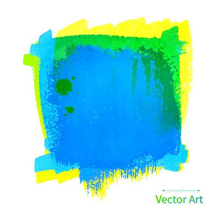 daubs: Blue colorful vector watercolor banner.