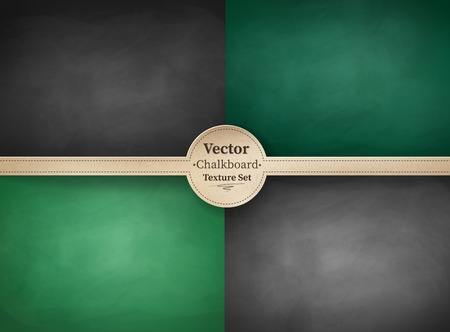 Vector collection of school chalkboard backgrounds. Çizim
