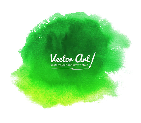 Green abstract vector watercolor background. Illustration