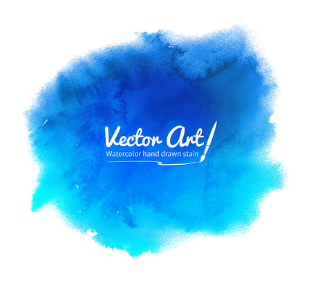 watercolor smear: Blue abstract vector watercolor background. Illustration