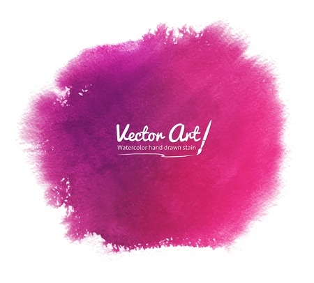 Pink abstract vector watercolor background. Иллюстрация
