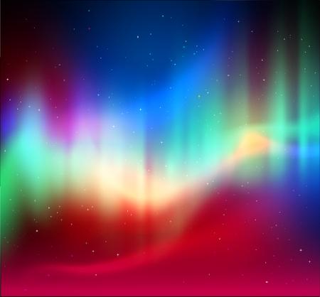borealis: illustration of northern lights background
