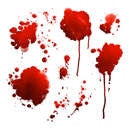 Hand drawn set of blood stains.