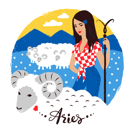 shepard: Vector illustration of Aries zodiac sign.
