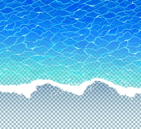 water wave: Vector illustration with sea surf