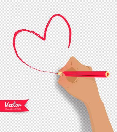 Hande Zeichnen Herzform Lizenzfrei Nutzbare Vektorgrafiken Clip