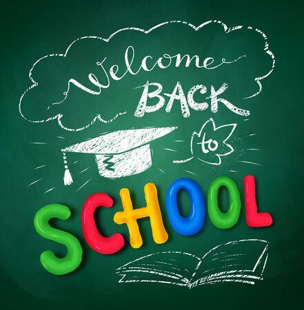 Welcome Back to School poster Ilustração
